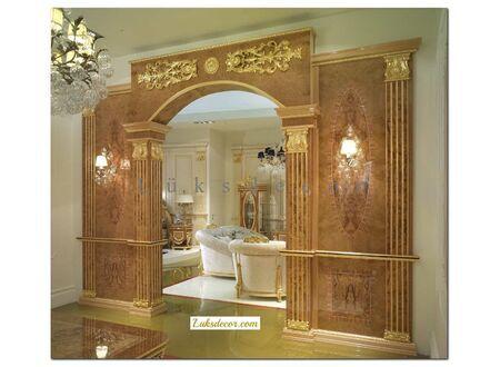 Pasia Lüks Klasik Kapı Dekorasyon-Ceviz